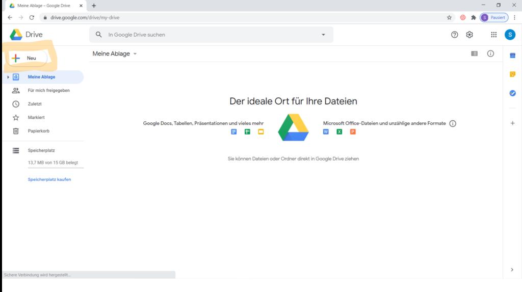 Tutorial Gruppenarbeit mit Google Drive