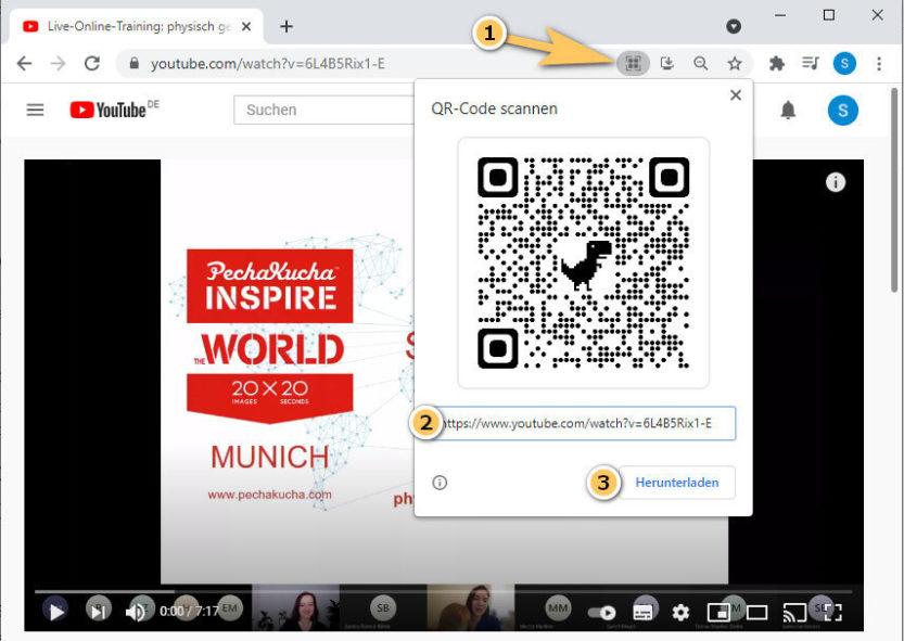 QR Code erstellen mit Google Chrome